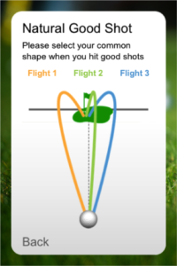 Showing your natural good ball flight?