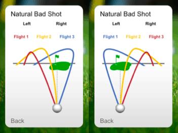 Golf lesson ball flight bad