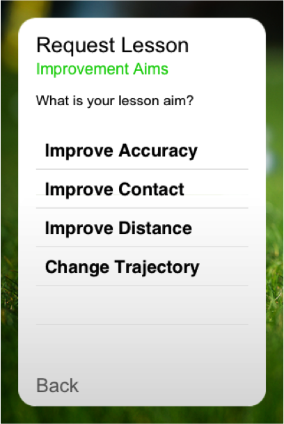 What is your online golf lesson aim?
