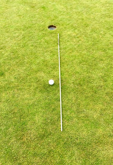 golf putting tips alignment stick used to check aim