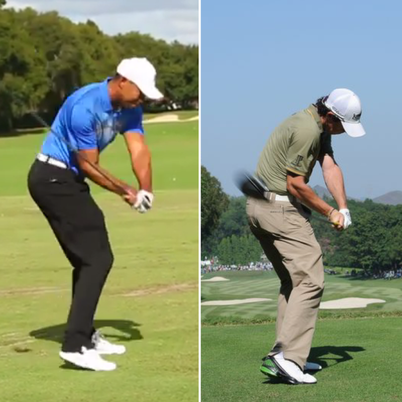 Perfect golf swing pre impact