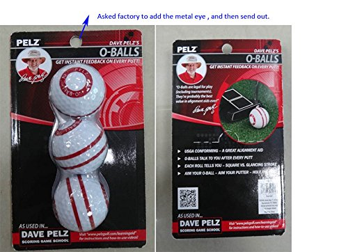 Golf putting aids review: Pelz golf O-balls