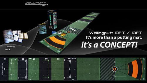 golf putting aids review: wellputt putting mat