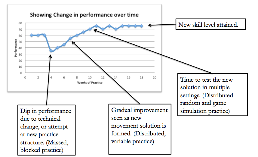 Golf practice variability applied to learning a swing change.