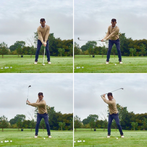 golf backswing sequence face on