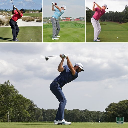 golf swing mechanics of Tiger woods and other elite pros at the top of the golf swing