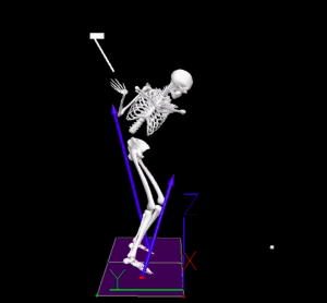 golf swing mechanics with ground reaction forces pushing forward and backward