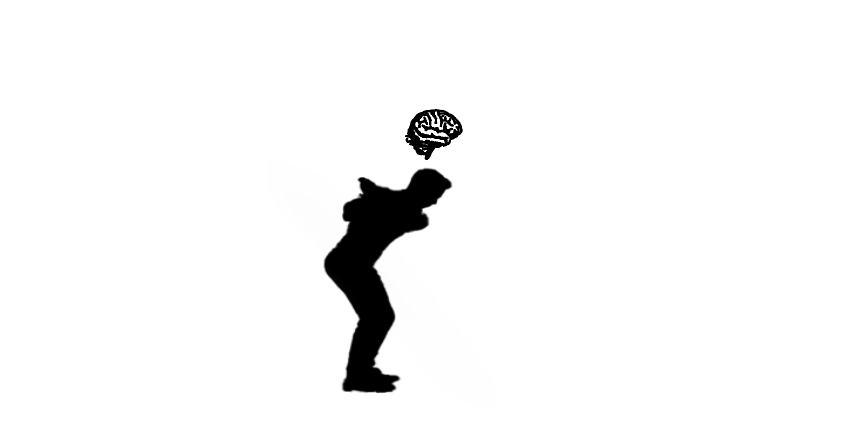 image header with a golfer and brain