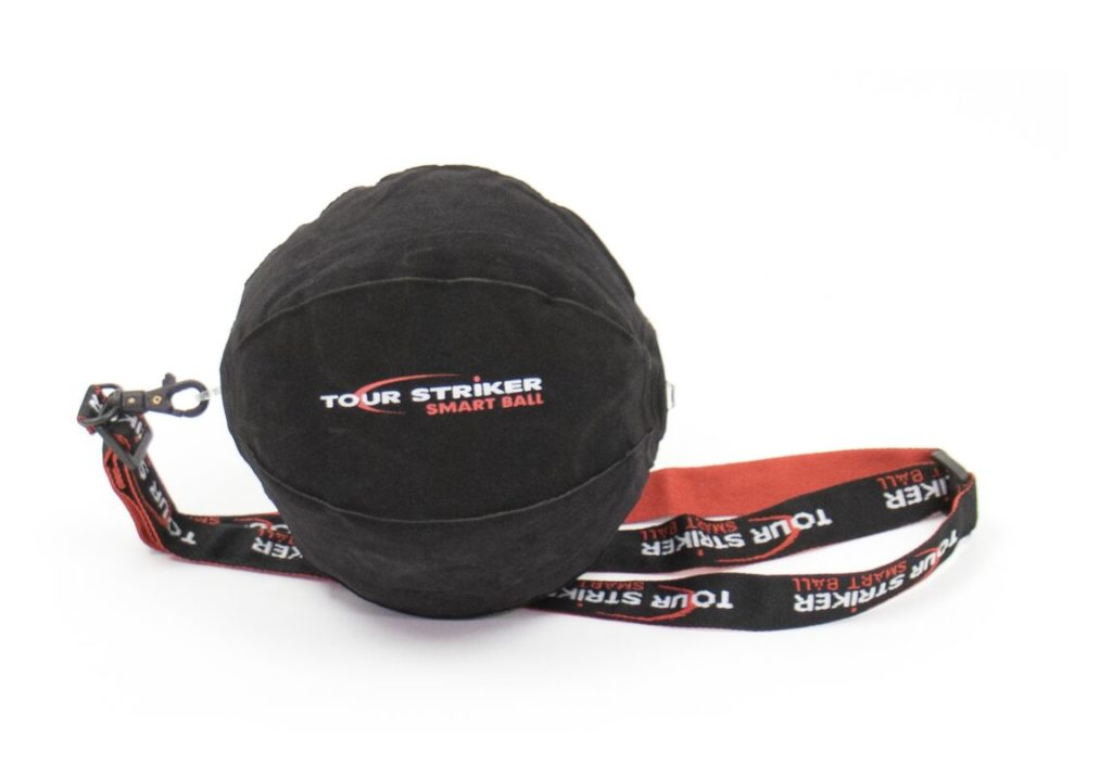 Tour striker smart ball training aid pictured with lanyard