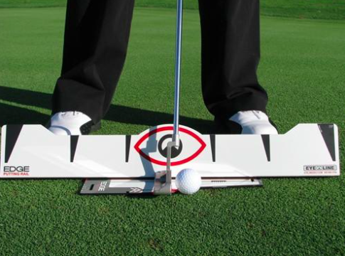 Eyeline putting rail. This putting aid helps you work on your swing path