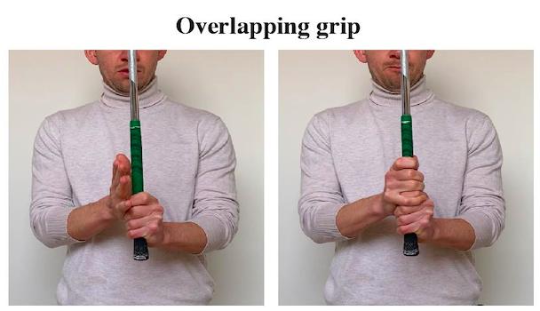 overlapping golf grip