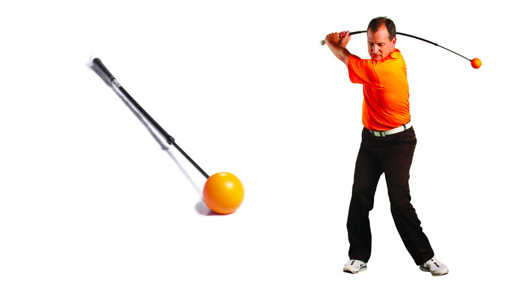 Orange Whip being swung by inventor