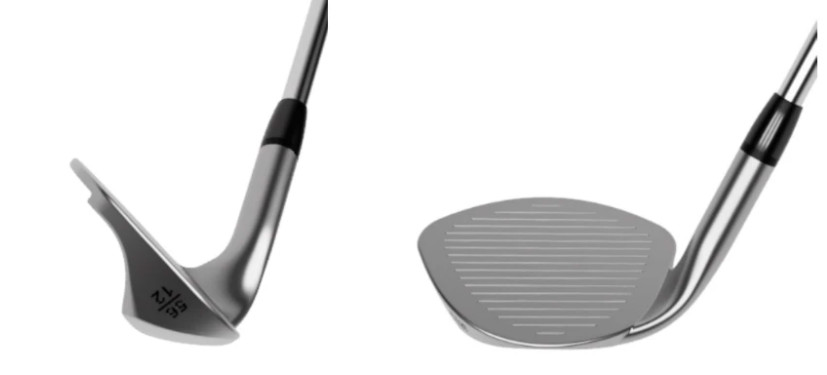 Cutter Golf Wedge face on and down the line
