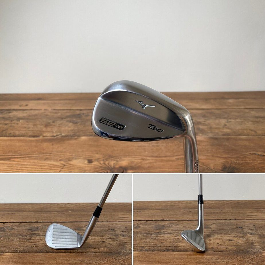 A Gap Wedge from behind, face on and side on.