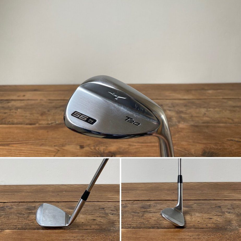 A Sand Wedge from behind, face on and side on.