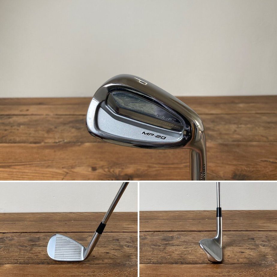 A pitching wedge from behind, face on and side on.